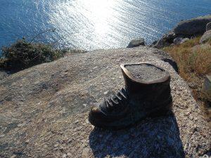 La scarpa del pellegrino di Finisterre