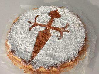La famosa Tarta de Santiago o torta del pellegrino